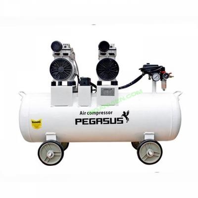 Máy nén khí PEGASUS 70L 2HP- KHÔNG DẦU (2 mô tơ)