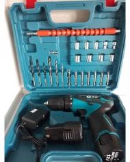 Máy khoan pin 10mm 12V CTC 2.0Ah- Tặng kèm 24 phụ kiện
